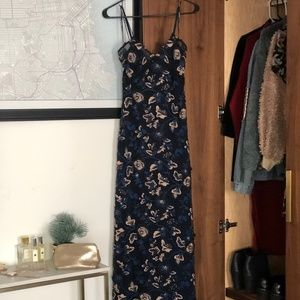 SELF-PORTRAIT METALLIC FLORAL DRESS